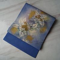 【なごや帯】薄花桜 色地 紫陽花文 塩瀬なごや帯