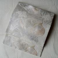 【夏ふくろ帯】おしどりと流水に菖蒲 絽 ふくろ帯