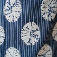 【浴衣】縞に貝絞り文 藍色