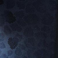 【夏・紬】黒地石畳柄風紗紬