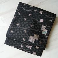 【夏なごや帯】黒地幾何学文なごや帯