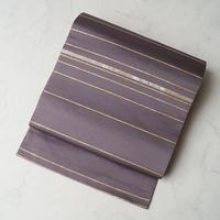 【ふくろ帯】濃色(こきいろ)横段に螺鈿づかい ふくろ帯