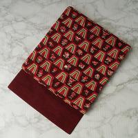 【なごや帯】臙脂花文様型染紬なごや帯
