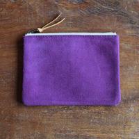 中がかわいい柄ポーチM 紫