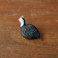 ブローチ ホロホロ鳥