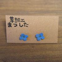 ピアス/イヤリング 花 青