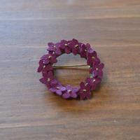 花かんむりブローチ すみれ 紫
