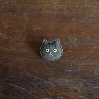 猫ブローチ キジトラ 顔