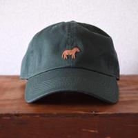 キャップ 馬×グリーン