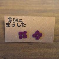 ピアス/イヤリング 花 紫
