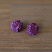 イヤリング/ピアス あじさい 紫 両耳