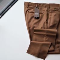 【PT01】the DRAPER brown solaro pants