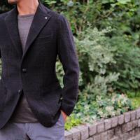 【TAGLIATORE】wool&cotton velor jacket