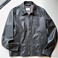 【HEDIN】leather blouson  gray