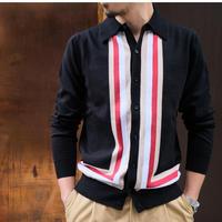 BAFY retro knit cardigan  black