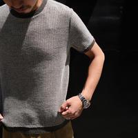 RIVORA  half sleeve knit mesh