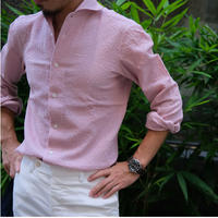 g.inglese  seersucker shirts  one-piece collar
