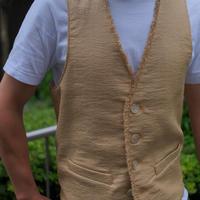 【Shaft】raphia vest  beige