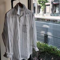 【AG SHIRT】PULLOVER SHIRT  WHITE×BLUE
