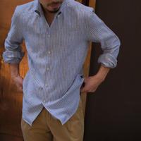 Massimo d'Augusto   one piece collar multi stripe linen100%