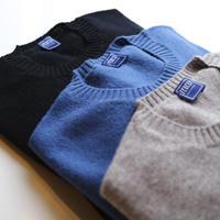 FEDELI  100%cashmere round neck knit