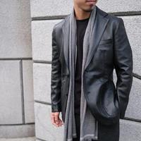 【TAGLIATORE】lamb  leather jacket  black