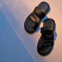 ZEUS  leather sandal  black
