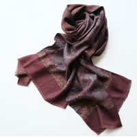 【PAOLO ALBIZZATI】double face silk scarf  bordeaux