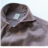 【Finamore】check shirt tricolor