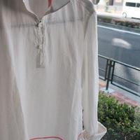 【GIAMPAOLO】capri shirt white