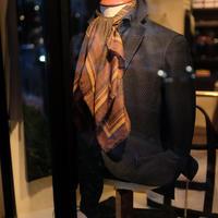 【PAOLO ALBIZZATI】wool scarf  brown