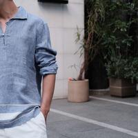 【GIAMPAOLO】capri shirt bule