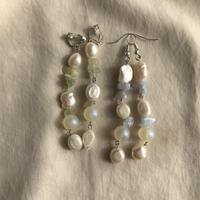 Baroque pearl  design pierce & earring