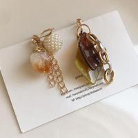 ore asmmetry pierce & earring