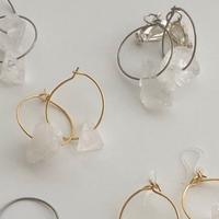 ore foop pierce & earring(white)
