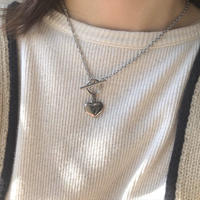 【stainless】heart silver Lariet