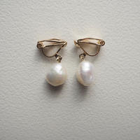 Baroque pearl earring(gold color)