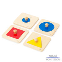 【Natural MONTESSORI】NM-B001 はめ込みパズルA(4枚セット)  ≪OUTLET≫