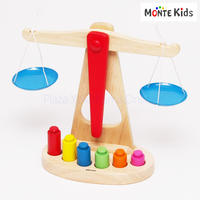 【MONTE Kids】MK-017  カラフル木製天秤