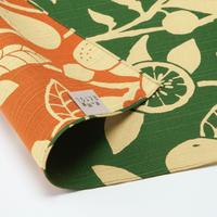 京の両面おもてなし ふろしき【三巾】橙<松葉色ーまつばいろ>