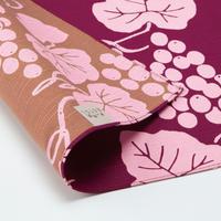 京の両面おもてなし ふろしき【中巾】葡萄<ワイン色>