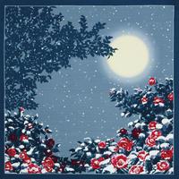 日本の四季 ふろしき【中巾】日本の冬