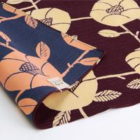 京の両面おもてなし ふろしき【三巾】椿<紫根色-しこんいろ>