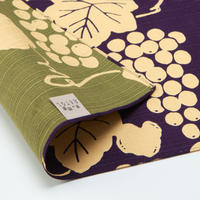 京の両面おもてなし ふろしき【中巾】葡萄<葡萄色ーぶどういろ>