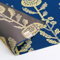 京の両面おもてなし ふろしき【中巾】菊<群青色-ぐんじょういろ>