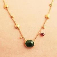 Shinti Plate  { Necklace }  tourmaline. garnet