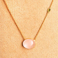 Lucky each other  { Necklace } rosequatz