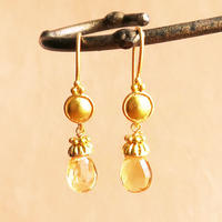 Petit Bell { Earrings } citrine