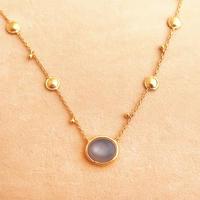 Shinti Plate  { Necklace } gray moonstone