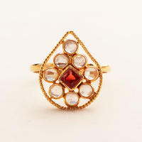 Pani Drop  { Ring }  orange sapphire